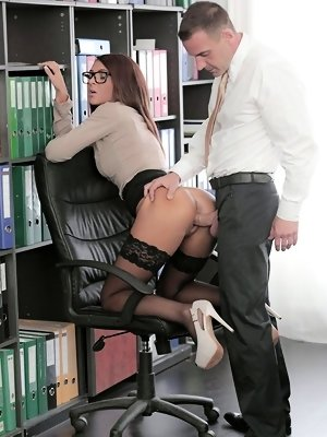 As much as he normally tries to suppress the pangs of lust he feels for his co-worker Alexis Brill, today Viktor couldn't ignore the throbbing ha
